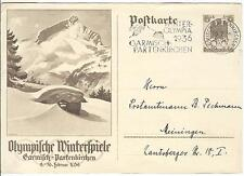 Germany Olympische Spiele Olympic Games 1936 Stationery with Olympic cancel