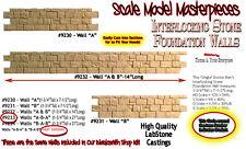 "INTERLOCKING STONE FOUNDATION WALL ""A-B-A"" Scale Model Masterpieces/ Yorke On30"