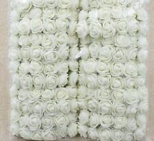 48 Foamrosen Schaumrosen Rosenköpfe Rosenblüte Rose Flowers Tüll  Stiel Blätter