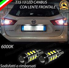 LAMPADE RETROMARCIA 13 LED T15 W16W CANBUS PER NISSAN QASHQAI J11 6000K NO ERROR