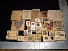 Mixed Lot Mounted Rubber Stamps ~ Arts & Crafts ~ Lot 7