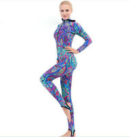 Women One-Piece Wetsuit Anti-UV Diving Skin Snorkeling Hood Swim Stinger suit