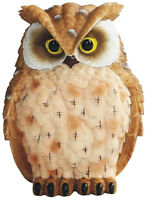 """HORNED BROWN OWL    Small Owl    statue figure   H4"""""""