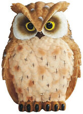 HORNED BROWN OWL    Small Owl    statue figure   H5.75""