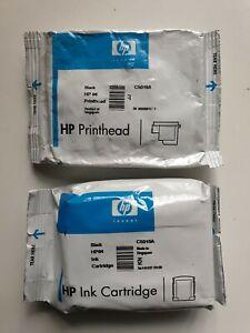 HP 84 Black Genuine Ink Cartridge &  HP 84 Black Printhead, C5016A C5019A