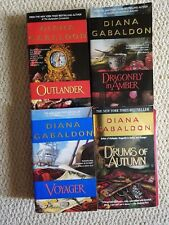 4 Outlander Series books Paperback Dragonfly in Amber Voyager Drums of Autumn