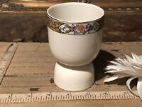 """Vintage Large Porcelain Floral Egg Cup Multi Floral Design 3 3/4''x2 5/8"""""""