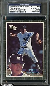 1985 Donruss Action All-Stars #49 Phil Niekro Signed AUTO PSA/DNA Certified