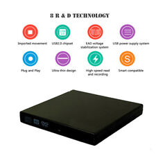 External USB DVD CD RW Disc Writer Dual-layer Burn Player Drive For PC Laptop