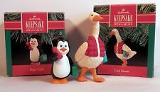 Hallmark Ornaments Keepsake Cozy Goose & Penguin VIP Original Box 1991