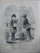 "7x10"" PUNCH cartoon 1845 WHERE IGNORANCE IS BLISS railway speculation / panic"