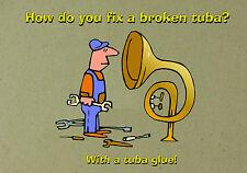 MAGNET DUMB JOKES How Do You Fix a Broken Tuba