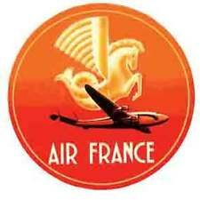 Air France   Airline Luggage Label   Vintage 1950's Style  Travel Sticker Decal