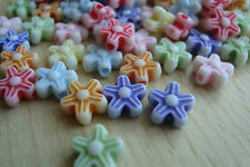 ** Colourful Acrylic Flower Beads approx 8mm diameter x100 pcs**