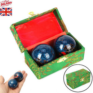 Baoding Balls Chrome Chinese Health Exercise Stress Relief Relaxation Therapy