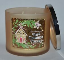 NEW BATH & BODY WORKS MAPLE CINNAMON PANCAKES SCENTED CANDLE 3 WICK 14.5OZ LARGE