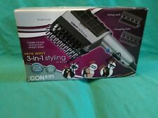 Conair Bristle Brush Styling System 1875 Watt 3 Combs Cool Shot