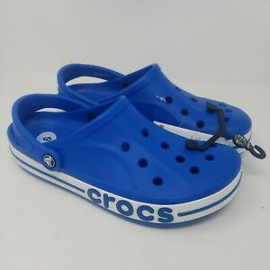 Crocs Bayaband Clog Comfort Bright Cobalt Slides Mens 9 Womens 11 (205089-4jl)