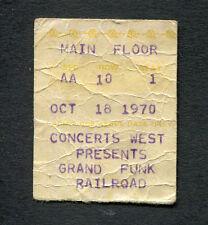 1970 Grand Funk Humble Pie concert ticket stub Memphis TN Closer To Home