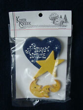 "Kiser Creek pin - ""Good Night Nurse"" - Heart, Stars and Crescent Moons"