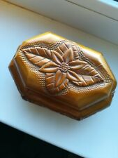 OLD Jewelry Box Casket Storage Handmade with beautiful Flower