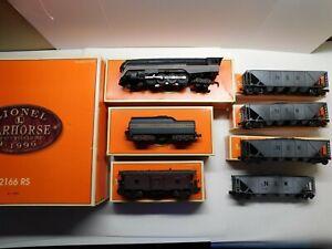 "O Scale Lionel 2166 RS Warhorse N&W ""J"" Steam Weathered Train Set TMCC 6-11909"