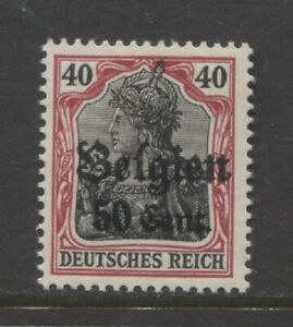 1916  BELGIUM WW 1 German occupation 50 centime Germania with op mint**, signed
