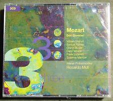 3CD-Box Mozart Don Giovanni Shimell Ramey Studer WP Riccardo Muti Warner neu ovp