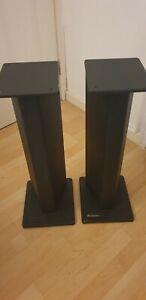"Atacama SE24 speaker stands, 24"" 610mm(h), matt black, pair"