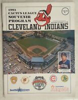 1984 CLEVELAND INDIANS PROGRAM CACTUS LEAGUE SPRING TRAINING UNSCORED