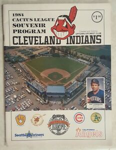 1984 CLEVELAND INDIANS PROGRAM CACTUS LEAGUE SPRING TRAINING UNSCORED