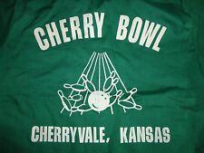 True Vintage 60-70's Green King Louie Vherry Bowl Kansas Bowling Shirt Adult S