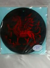 "Welsh RED DRAGON 6"" Hanging Slate Plaque, Made in North Wales from Welsh Slate"