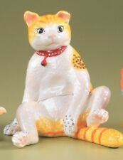 Cat  trinket box  LIMITED EDITION  by Keren Kopal with Austrian crystals
