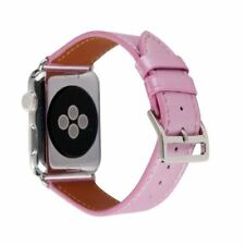 Replacement Band Strap Genuine Leather iWatch 42/38mm 1/2/3 Pink For Apple Watch