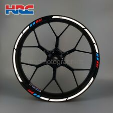HRC Honda motorcycle reflective wheel decals stickers rim stripes