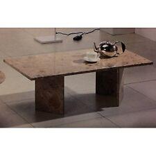Tavolino da salotto rettangolare tutto in marmo colore nero