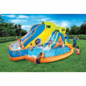 Banzai 49100 Pipeline Twist Kids Inflatable Water Pool Park & Slides