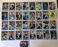 1988 NEW YORK METS Topps COMPLETE Baseball Team SET 33 Cards STRAWBERRY CARTER !