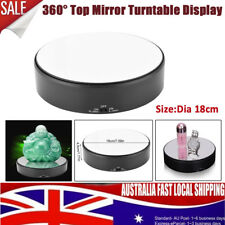 Top Mirror Glass 360° Rotating Rotary Display Stand Turntable 2kg Load Battery