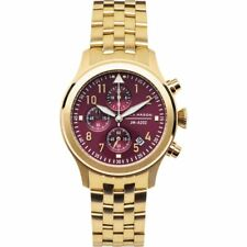 JACK MASON AVIATION CHRONOGRAPH GOLD-TONE ST.STEEL LADIES WATCH JM-A202-006 NEW