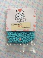 You're One In A Million Boyfriend Gift Novelty Valentines 40g Gusset Bag