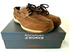 Rockport Work Sailing Club Womens Steel Toe EH Boat Shoes Brown RK676 US 10 Z045