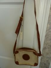 Adrienne Vittadini Shoulder/Cross-Body Canvas/leather trim bag