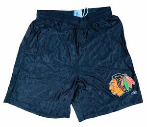 Vintage Chicago Blackhawks Hockey Majestic Black Basketball Shorts Men's Large