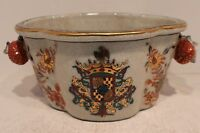 Beautiful European Emble Floral Pattern Oval Porcelain Orchid Pot Gold Gild