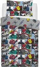 Official Marvel Avengers Characters Comic Colour Pop Single Duvet Bedding Set