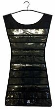 Little Black Dress Hanging Jewelry Organizer Closet Storage 39 Pockets 24 Hooks