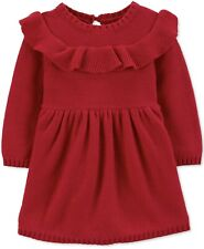 Carter's baby girl 6 months Red Sweater Dress With Panties MSRP $40 NWT