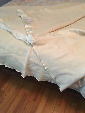 "Faribo 100% Pure Wool 75"" x 75"" Beige Blanket"
